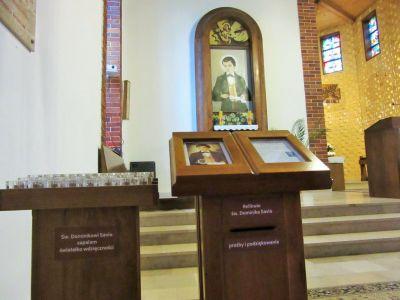 Relikwiarz św. Dominika Savio