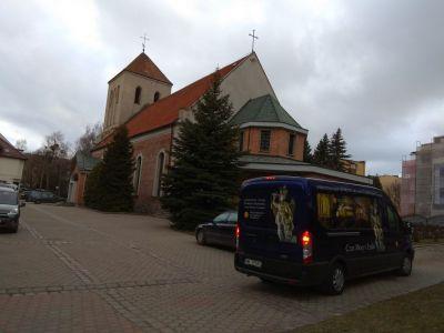 W drodze do Parafii pw. św. Jana Bosko figura św. Michała Archanioła nawiedziła i naszą Parafię