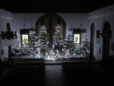 Świąteczny wystrój naszego kościoła - Boże Narodzenie 2017